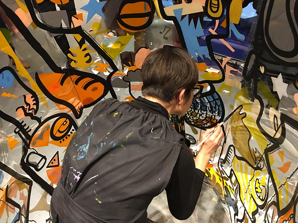 Atelier fresque participatif