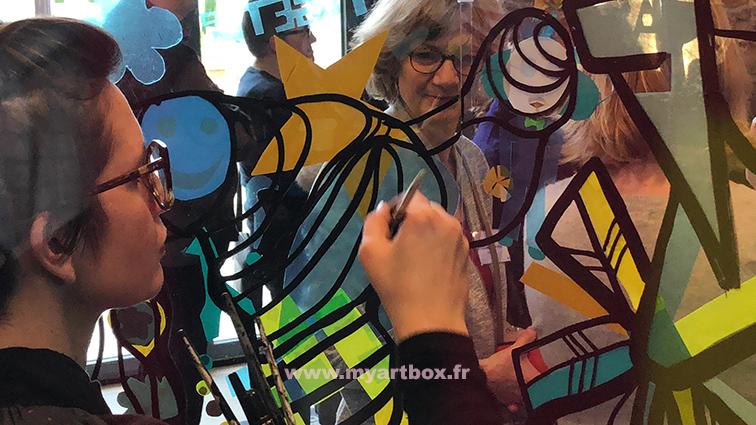 Fresque interactive 6