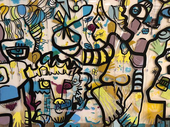 Fresque vinyle