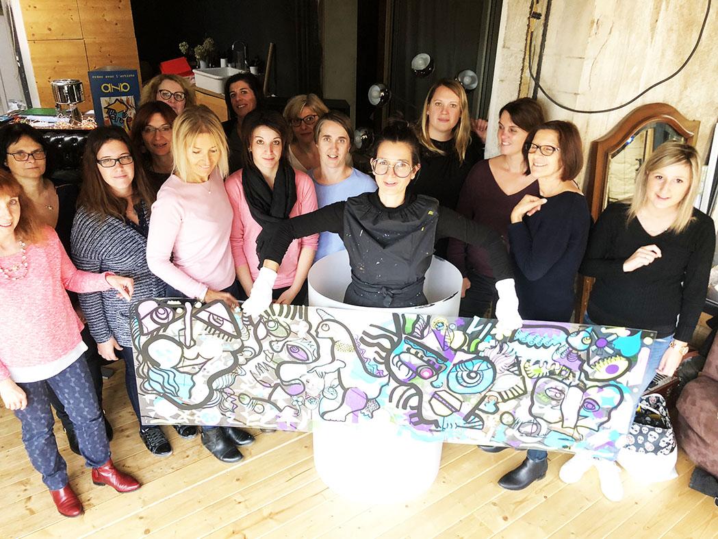 Team building fresque bourgogne